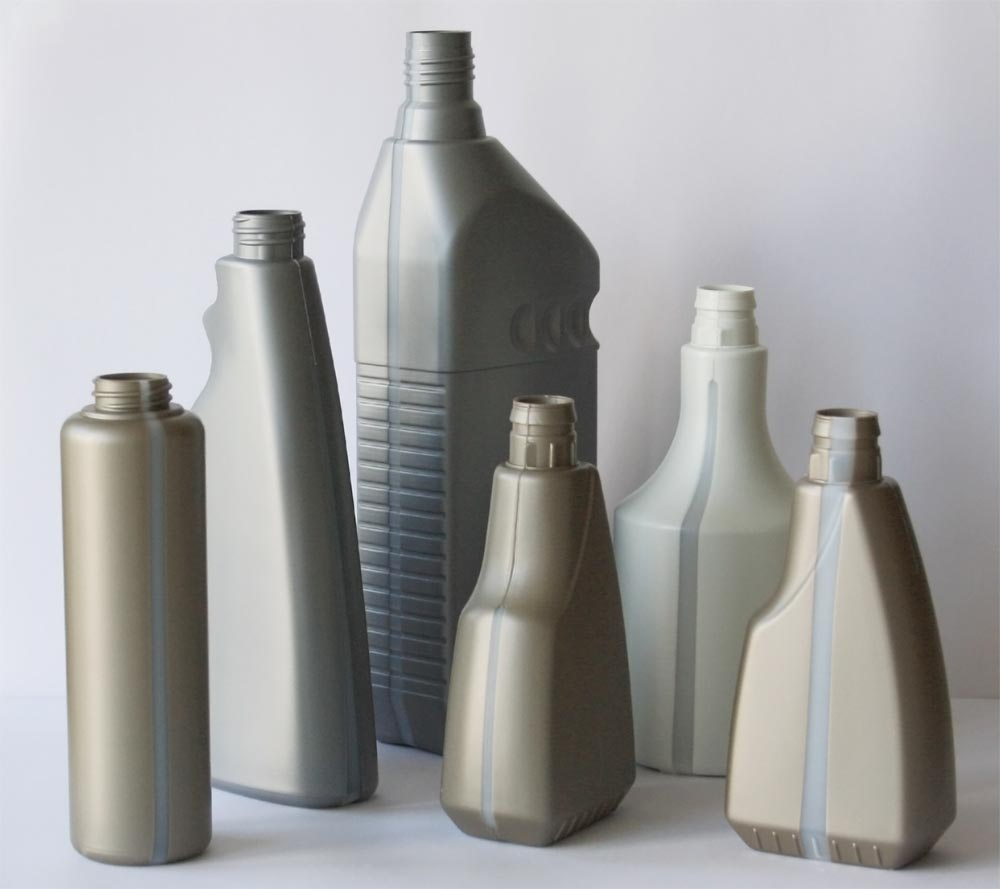 Lindner Plastic Bottles with transparent window stripe