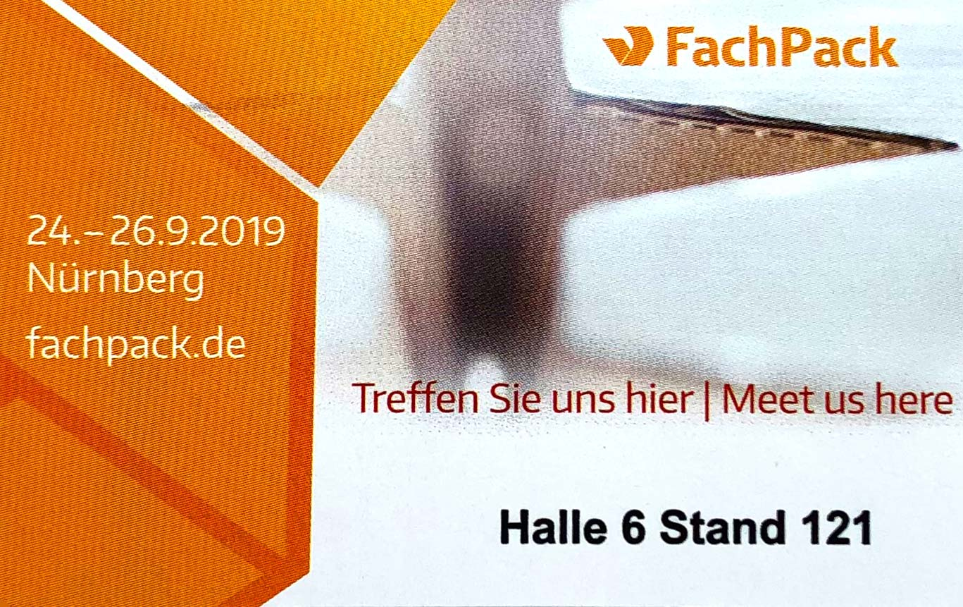 FachPack 2019 Lindner trade fair stand 121 (hall 6)