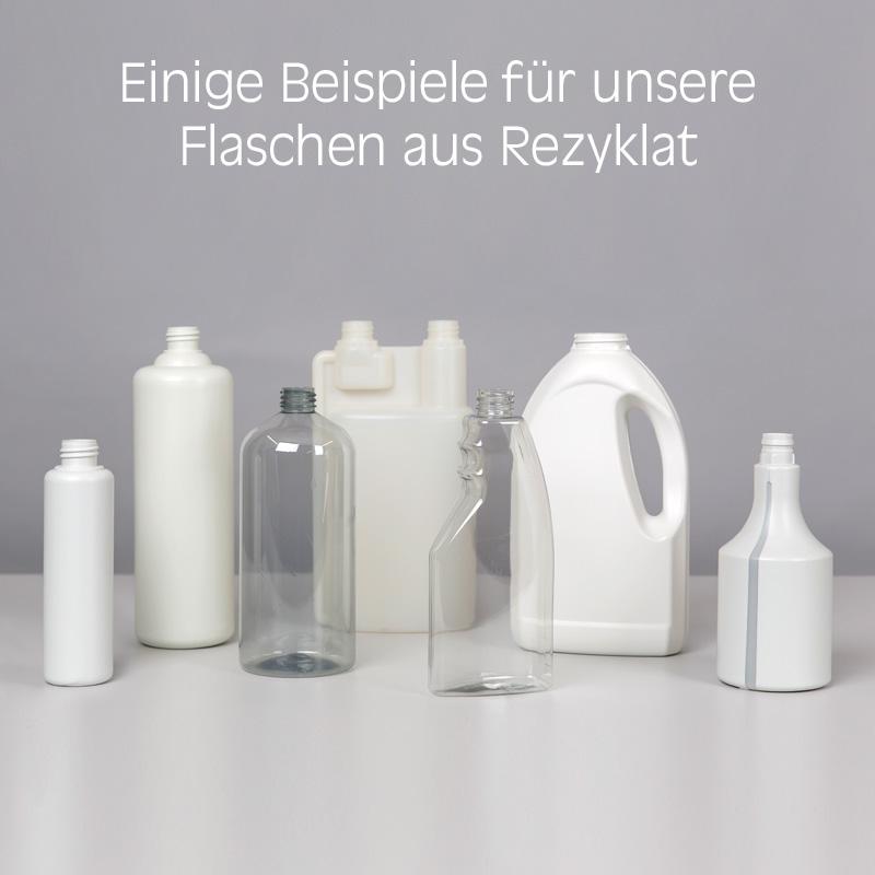 Flaschen aus Recyclat von Lindner