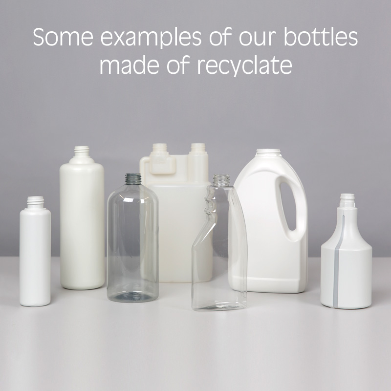 Recyclate bottles from Lindner